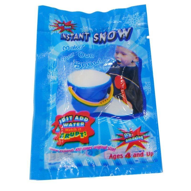 마법의 순간 전압 상승에 물 눈 파우더 크리스마스 인공 눈 가루 크리스마스 파티 장식 키즈 재미있는 장난감 가짜 눈 매직 소품 크리스마스 D