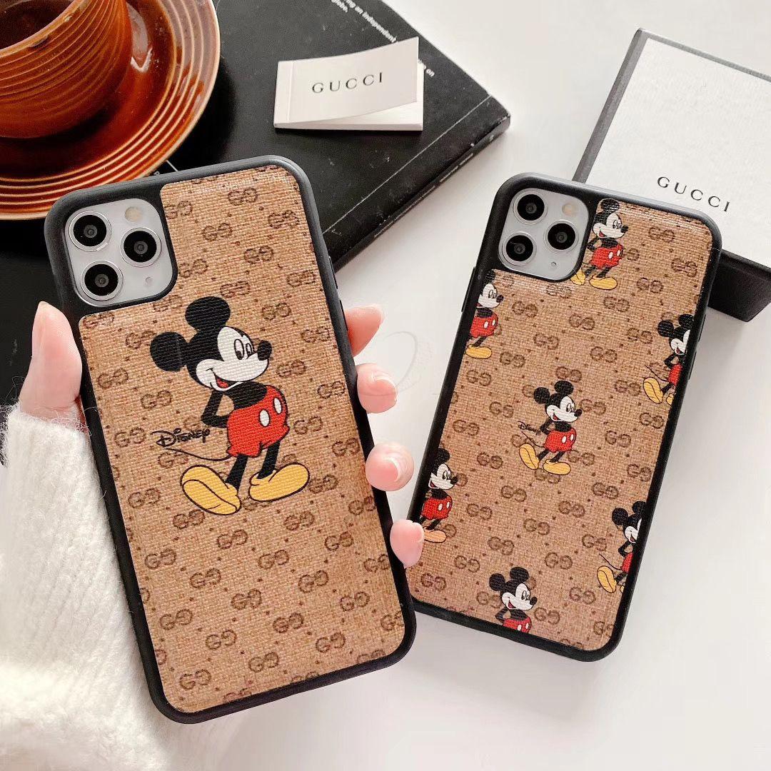 Мода Конструктор мобильных телефонов Чехлы для iPhone Кок 11 11Pro 11promax Xr Xs MAX 6 7 8 Plus Case Известных мышей Кожи телефон Shell задней крышка