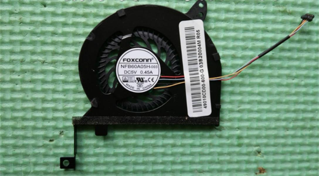 original cpu fan for laptop cpu cooling fan cooler 4-wire NFB60A05H-003 DC 5V 0.45A