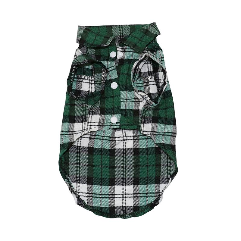 Summer Pet Dog Clothes for Small Dogs Fashion Cotton Cat Dog Plaid T-shirt Vest Puppy Clothes Cool Breathable Shirt Pets Product
