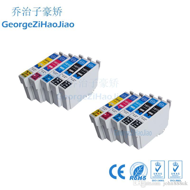 10 ADET Mürekkep Kartuşları T1811 T1812 T1813 T1814 Epson XP-212 XP-215 XP-312 Için Uyumlu