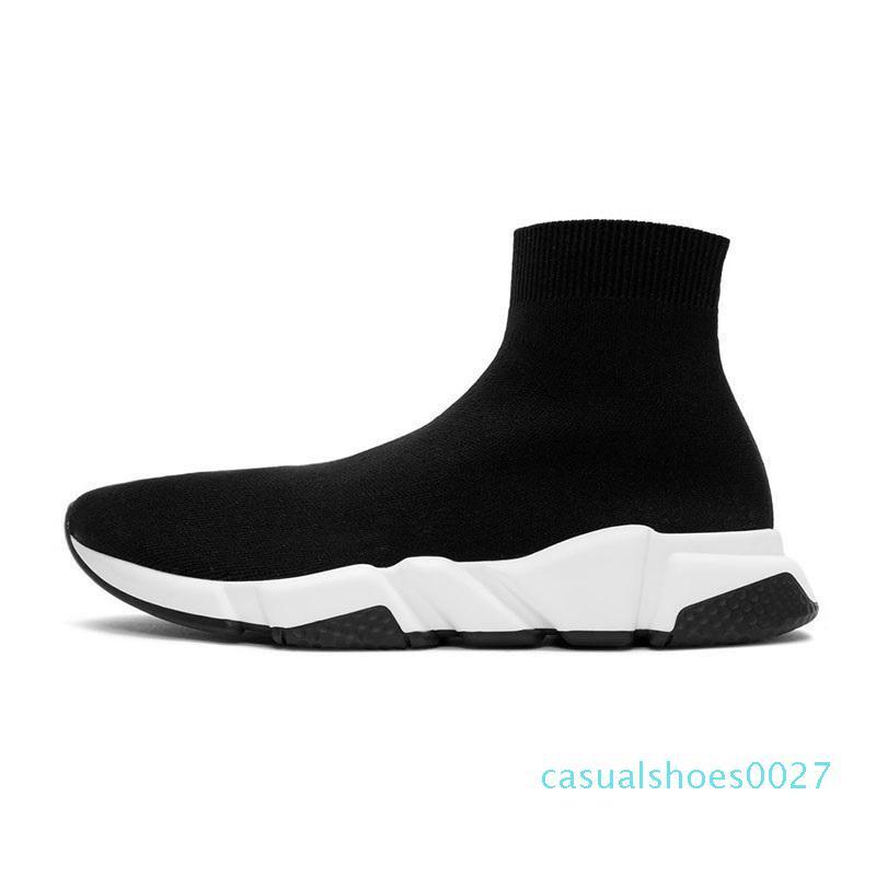 2020 tasarımcı çorap ayakkabı moda luxu erkekler kadınların spor ayakkabısı üçlü siyah beyaz Graffiti sarı hız eğitmen mens bej gündelik spor ayakkabı C27