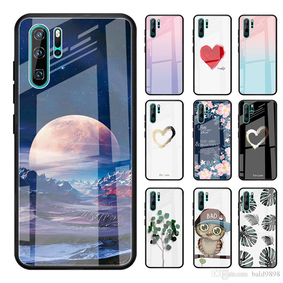 Tempered Glass Case For Huawei P20 Lite P20 Pro Nova 3 3i Mate 20 10 P30 Love Heart Full Protection Cover For8X Cases