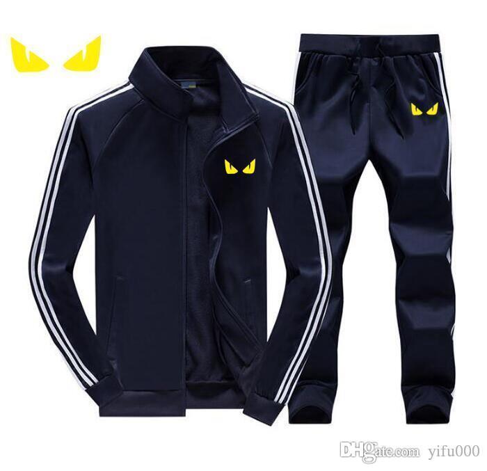 Para el otoño chándales FD Hombre Marca Diseñador Coats TopsPants Trajes Logo rebeca de la moda de los hombres sudaderas con capucha con cremallera Ropa para Hombres
