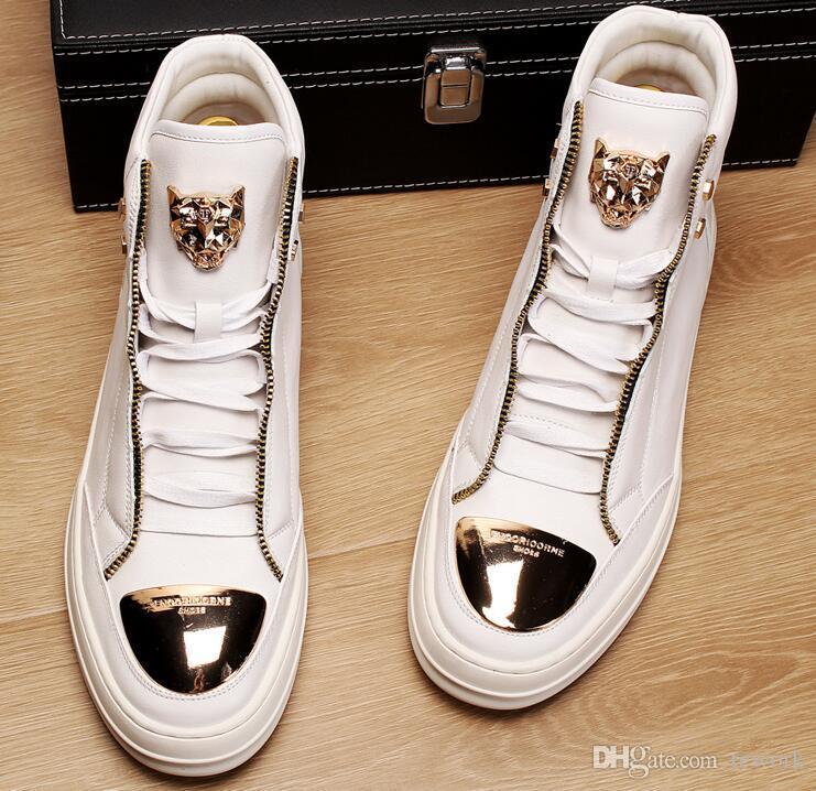 أحذية جديد وصول رجل Loveres الاحذية والجلود حقيقية عالية الأعلى احذية رجال مصمم السببية للرجال متعطل