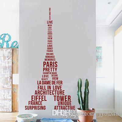 Diy Large Eiffel Tower Wall Stickers Vinyl Creative Wall Art Decals For Paris Love Vivid France Sticker Murals For Living Room Decor Decal Your Wall Decals From Carrierxia 6 54 Dhgate Com