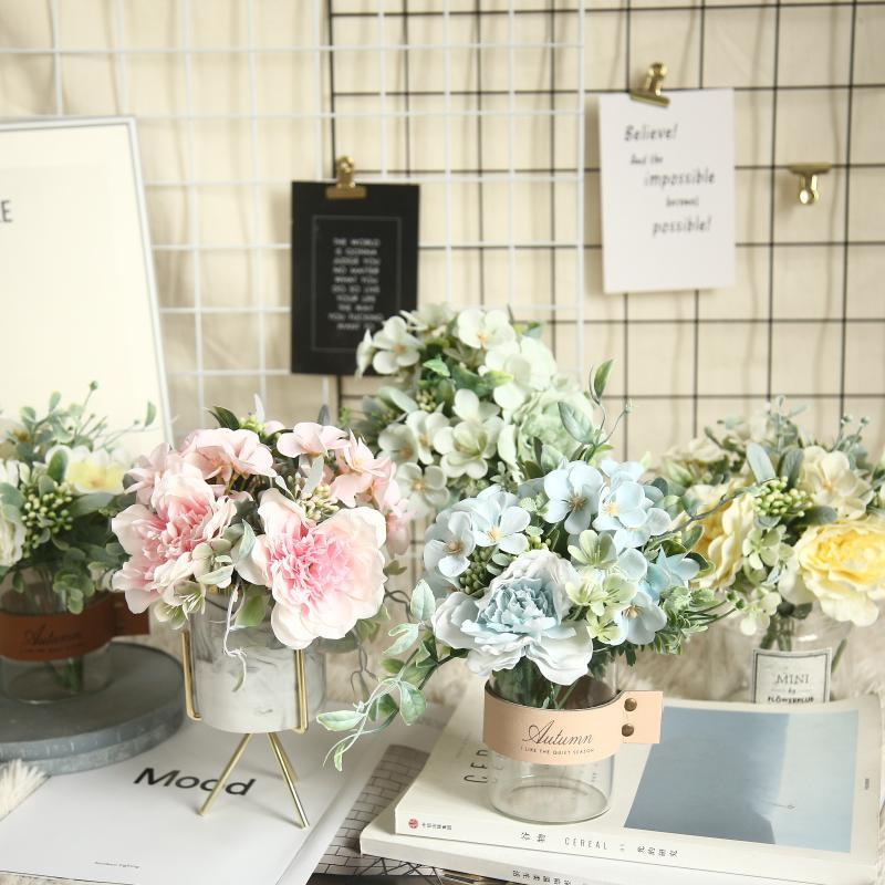 2pcs шелк искусственные розы цветок камелии JAPONICA дом рождественские украшения свадьбы marrige декоративный цветочный букет Часть