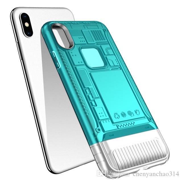 pour iphone XS Max Armor Case pour iphone X XS XR Hybrid Combo Coque de protection arrière pour iphone 6 6s 7 8 9 plus Coque antichoc transparente