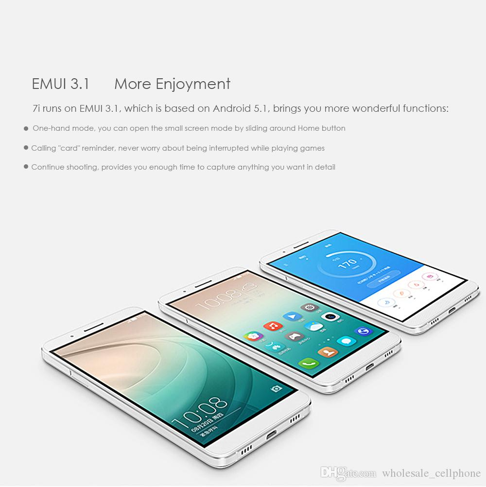 Huawei Honor 7i 4G LTE Cell Phone 3GB RAM 32GB Rom Snapdragon 616 Octa Core أندرويد 5.2 بوصة 13.0 MP بصمات الأصابع الهاتف المحمول