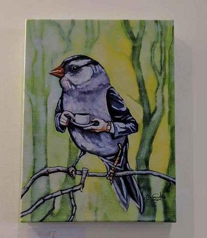 Старый Сэм Пибоди принимает чай высокое качество ручной росписью HD печатные абстрактные животные птицы стены искусства картина маслом на холсте несколько вариантов размеров