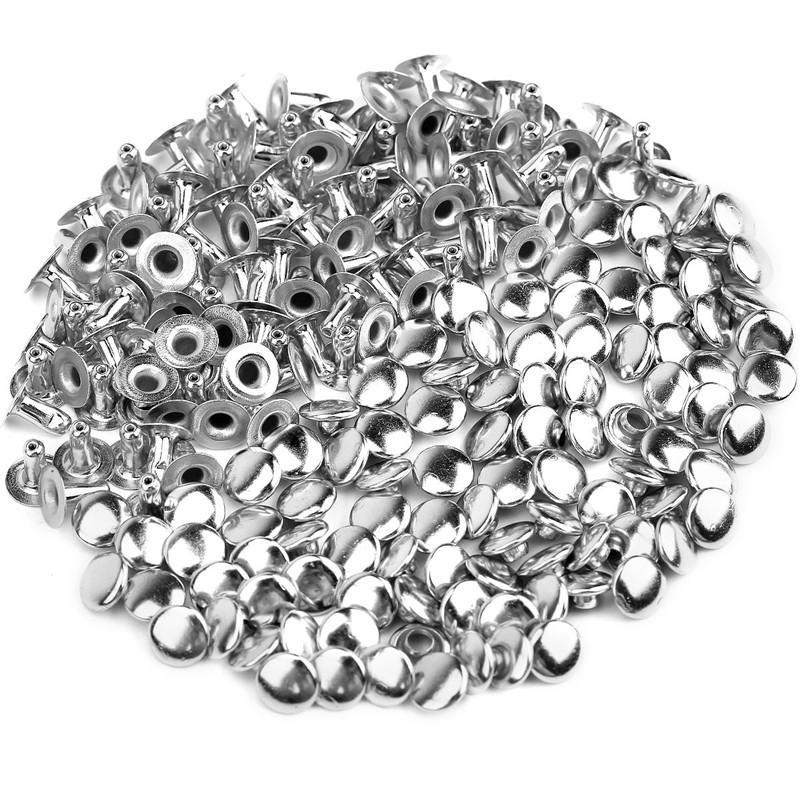 Chiodo cavo fai da te chiodo ribattino 6 mm argento 500 pezzi / set