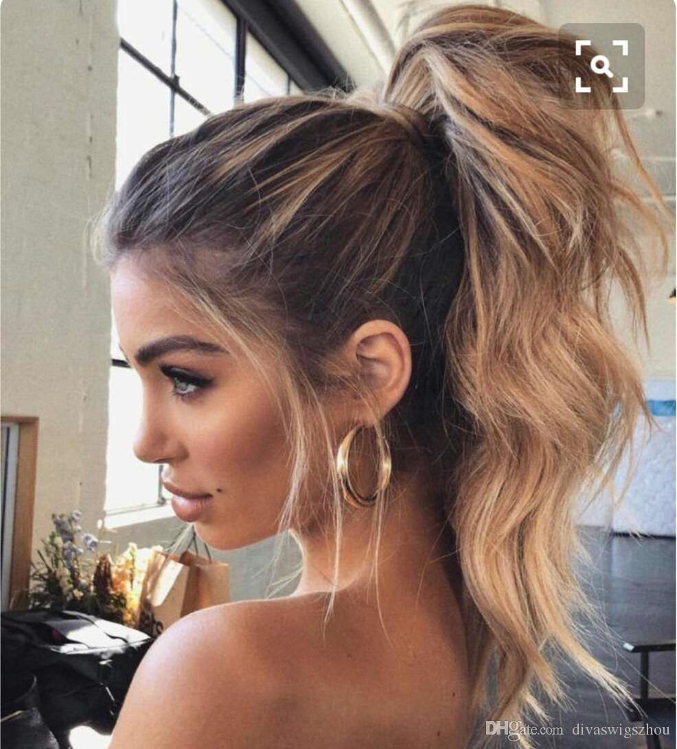 Admirable Celebrity Wavy Blond Human Hair Drawstring Pony Tail Hairpiece Schematic Wiring Diagrams Amerangerunnerswayorg