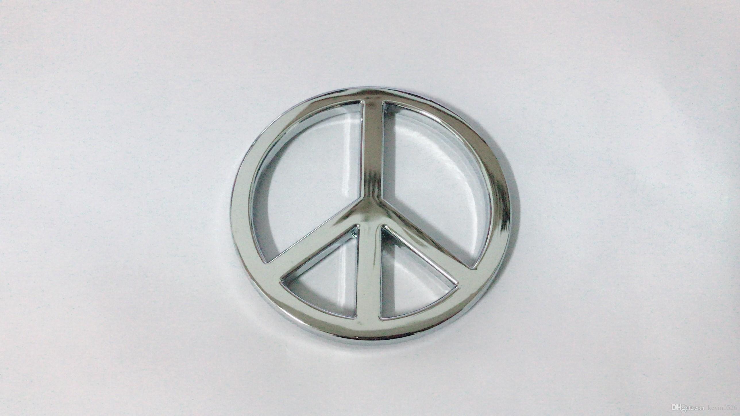 Argent Groovy Peace 3D Chrome Sign Emblem Decal Sticker Car Auto Camion universel vélo
