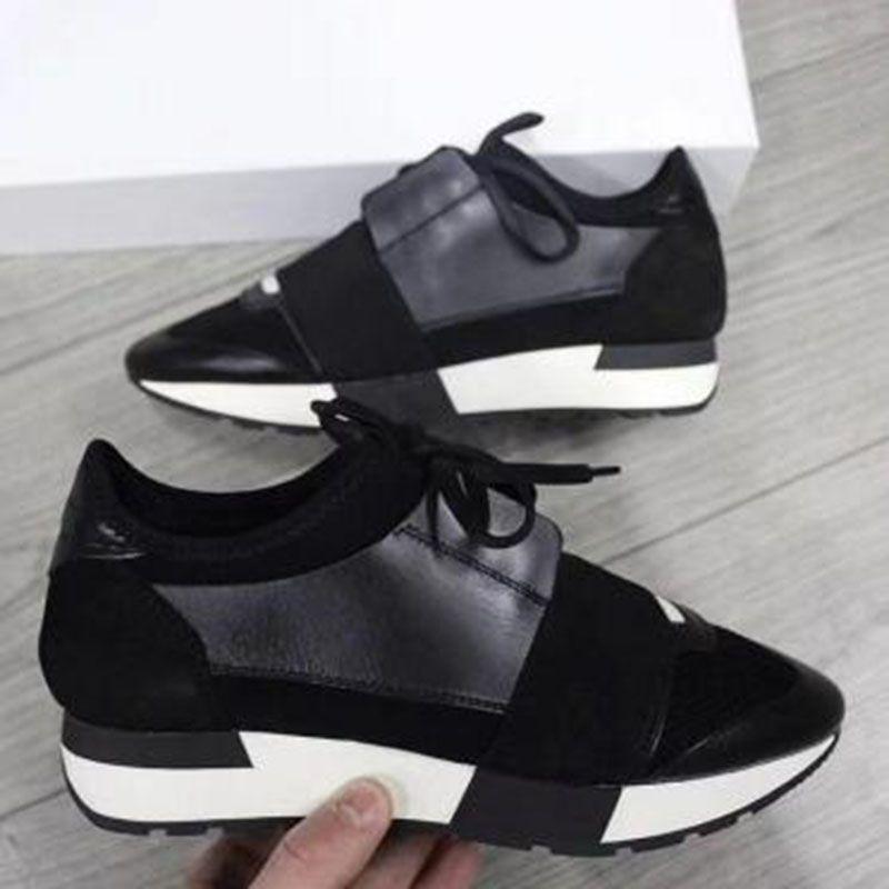 Завод оптовых Людей женщина кожа Повседневная обувь дышащая сетка тапок на открытом воздухе Кроссовки Runner Обуви Elastic кроссовки G9K
