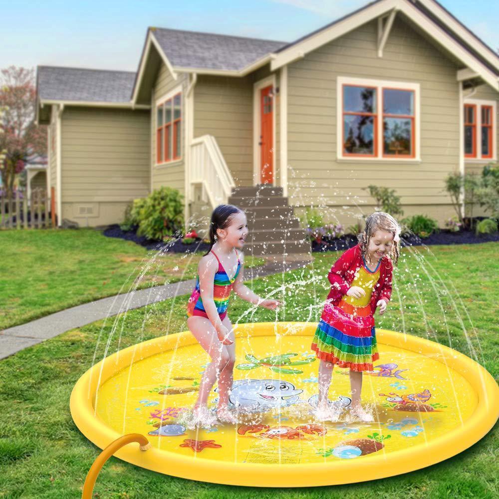 170CM الاطفال اللعب ماتس في الهواء الطلق نفخ الرش وسادات المرح رش المياه حصيرة سبلاش المياه ماتس طفل الطفل حمام سباحة DHC179