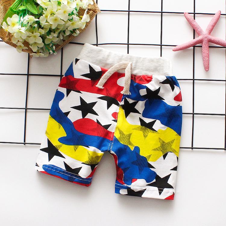 Children Pants kids summer trousers for baby boys girls loose shorts size66~100 beachwear cotton toddler infant