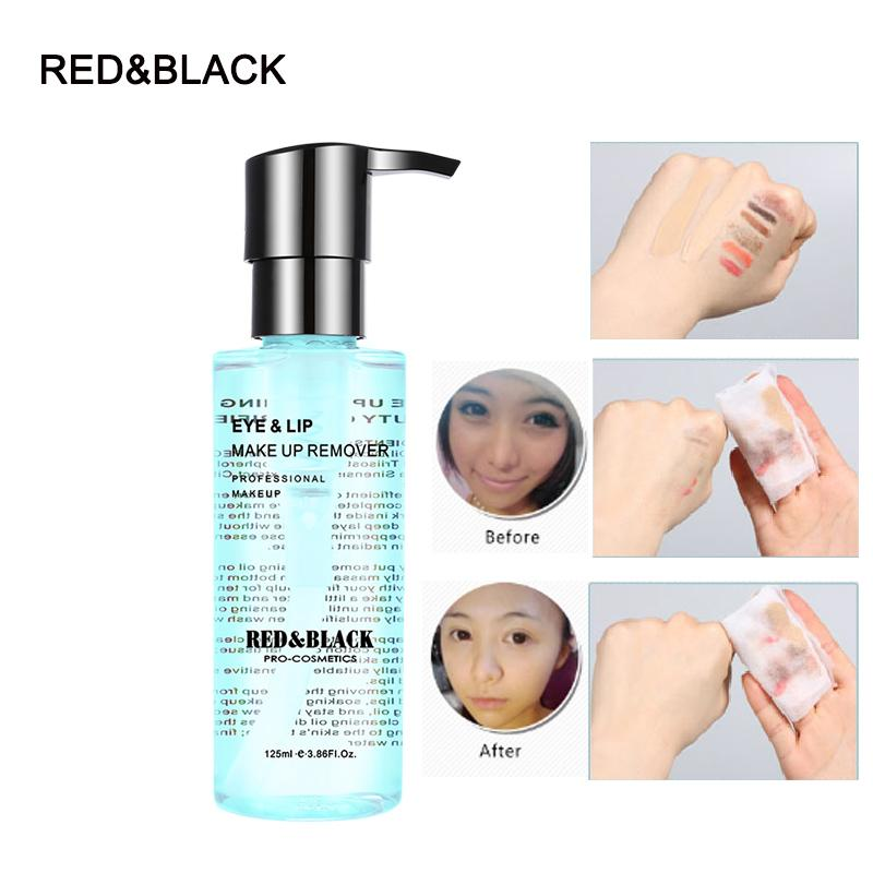Red&black Cleansing Liquid Radiant Remover 125ml Makeup Remover Deep Clean Eyes Lips Face Mild Clean Skin Care Cosmetic