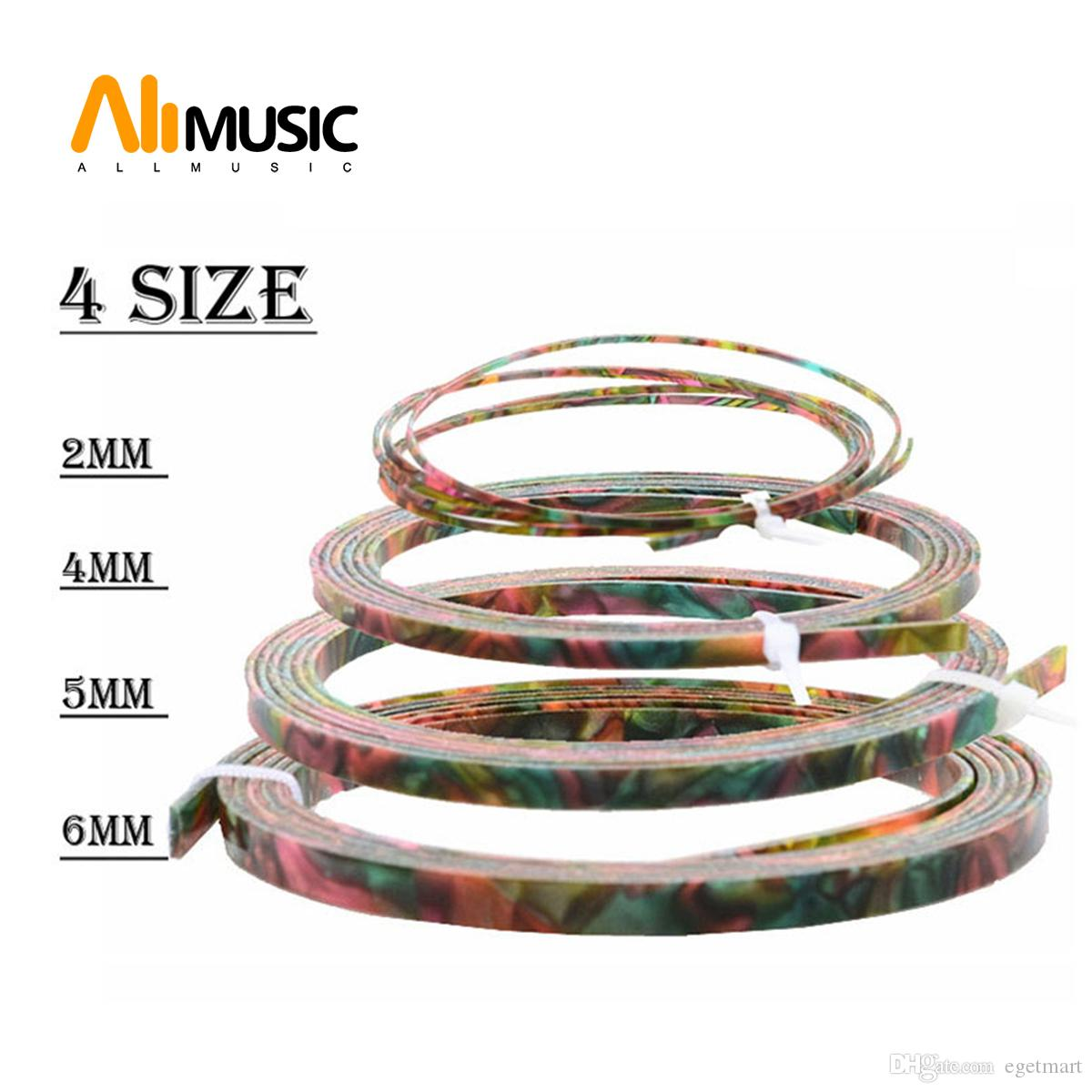 Cool Guitar Parts Celluloid Guitar Binding Body project Purfling Strip 1650x 6/5/4/2 x1.5mm Colorful Pearl
