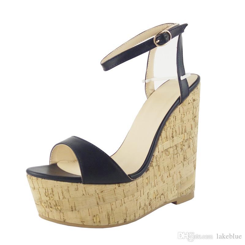 Free shipping Top Quality Luxury Designer Women Summer Wedges 15CM High Heels 4.5CM platform Plume Sling Cool Sandals Open Toe size 34-45