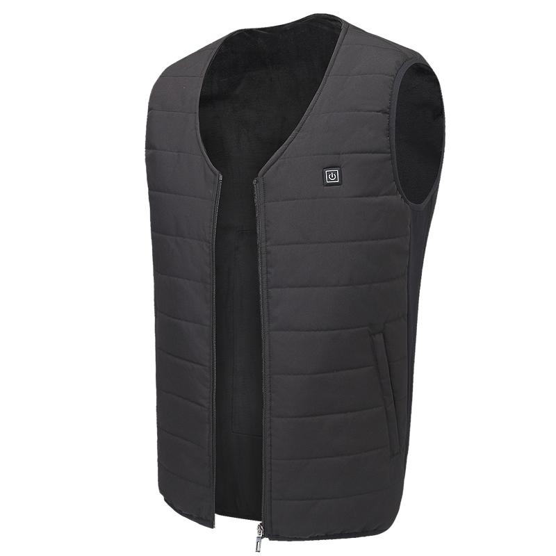 Heated Vest USB Charging, Electric Heating Clothing, Washable Adjustable for Outdoor, Motor, Fishing, Hiking, Hunting, Camping (Battery Not