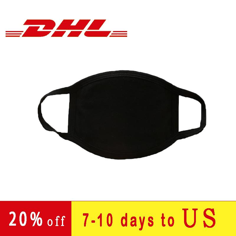 Three Floors Dhl Ships Within 48 Hours Customizable Dust-proof Reusable Mask Cotton cloth Black Masks Disposable Masks Face Mask Designer