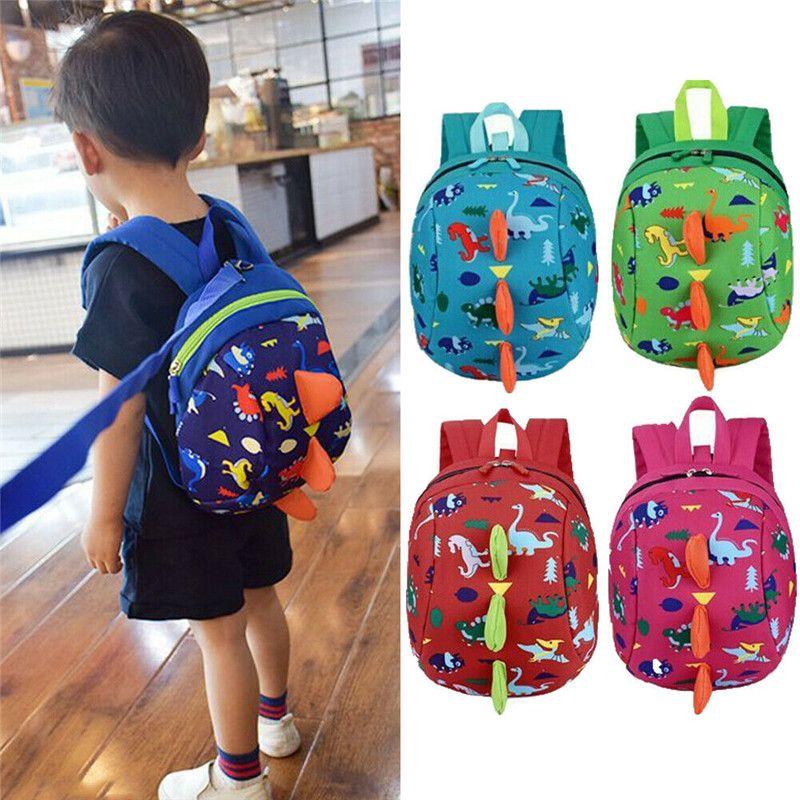 NoEnName-Null Kids Safety Harness Leash Anti Lost Backpack Strap Bag Mochila escolar para niños pequeños