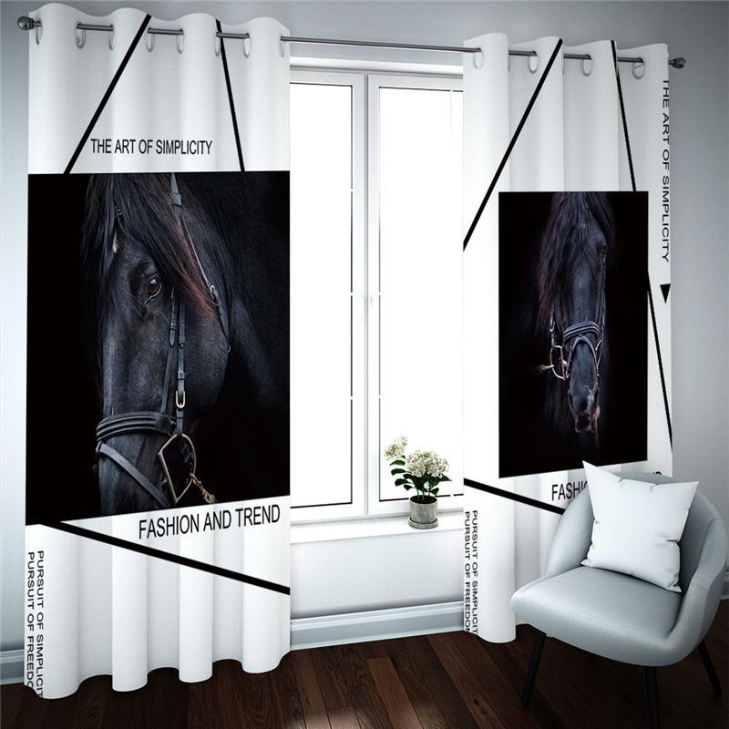 3d cortina costume nova cortina de animais sala quarto espessamento apagão cortina