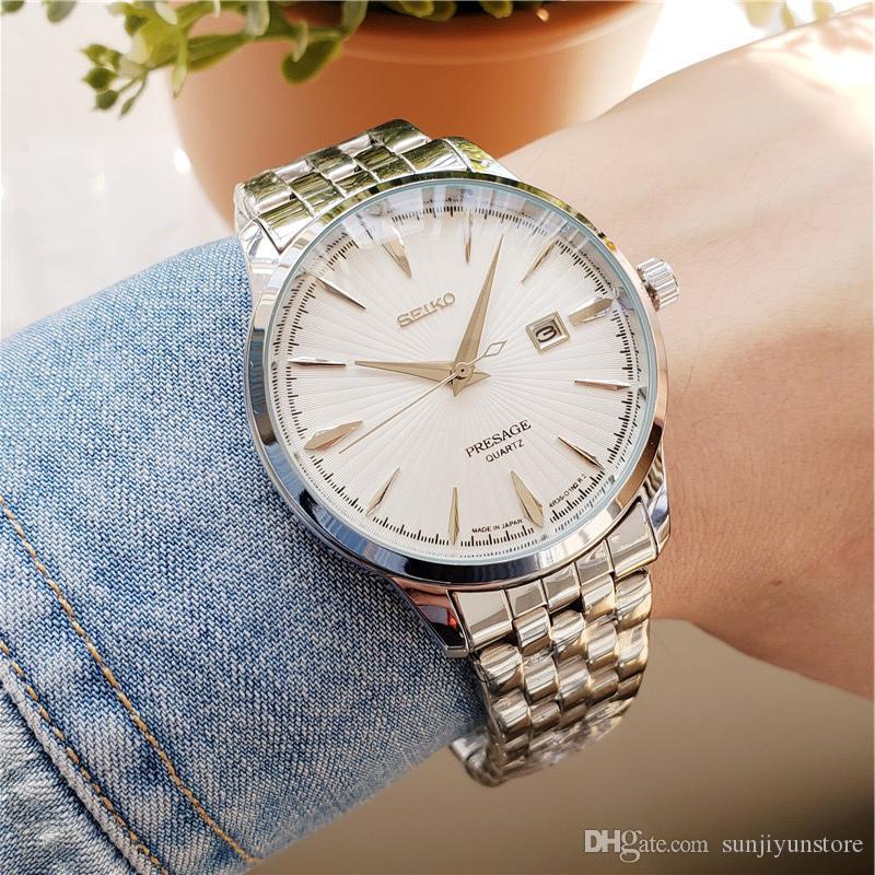 marque haut montre mens designer de montres de luxe robe de mode montre-bracelet à quartz horloge mâle montre homme orologio di lusso