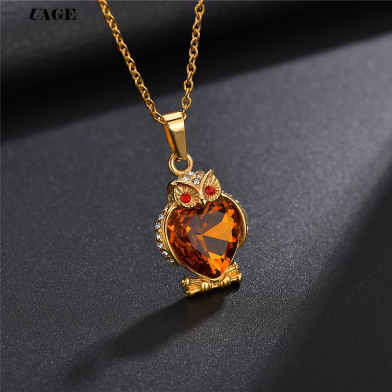 UAGE пленка способа ювелирных изделия Сердце цепи море ожерелье с кристаллом для женщин Лучшего подарка