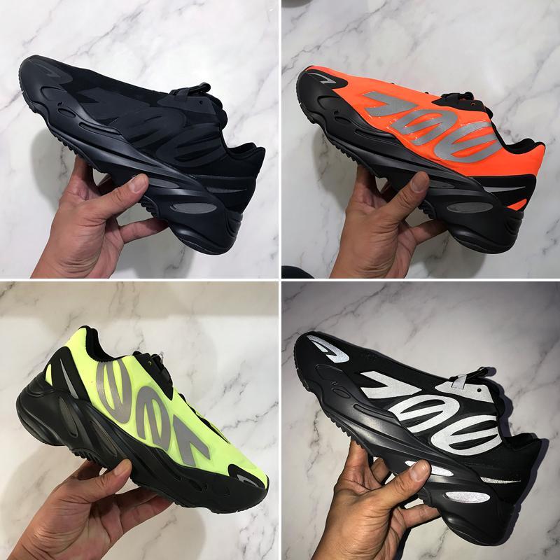 أعلى جودة الاحذية mnvn 700 موجة عداء عاكس البرتقال الأخضر الثلاثي الأسود 3 متر المواد الرجال النساء الرياضة أحذية رياضية مع صندوق