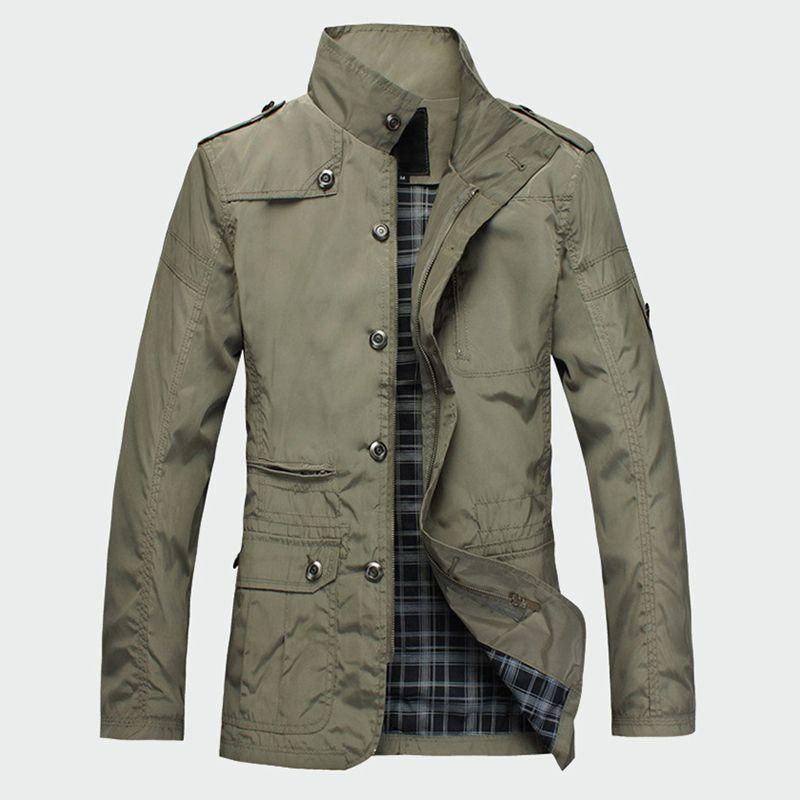 Jackets Hot Sell Casual Wear de homens magros da moda coreana Comfort Windbreaker Outono Overcoat Necessary Brasão Primavera Homens M-5XL ML091 T200319