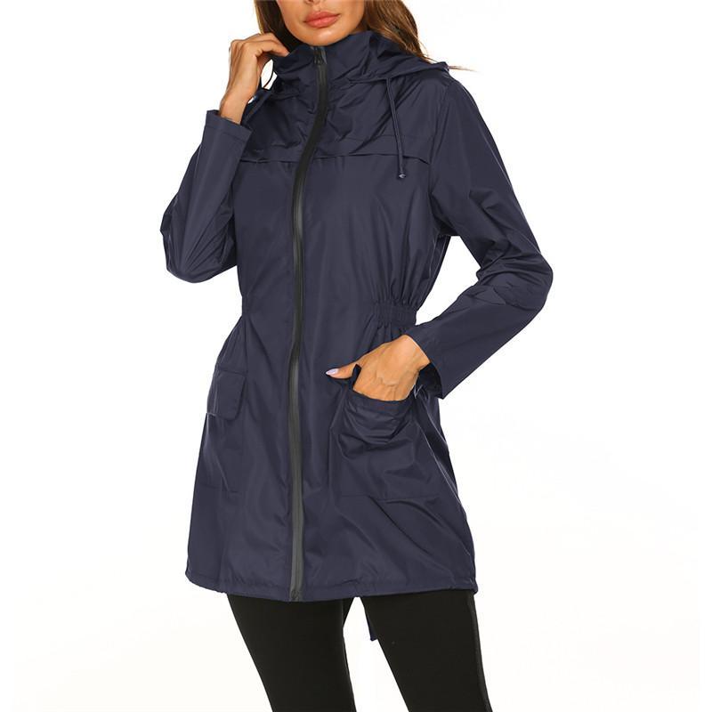 Jacket do impermeável Revestimento E Luz Raincoat com capuz Outdoor Windbreaker Montanhismo Mulheres 2352