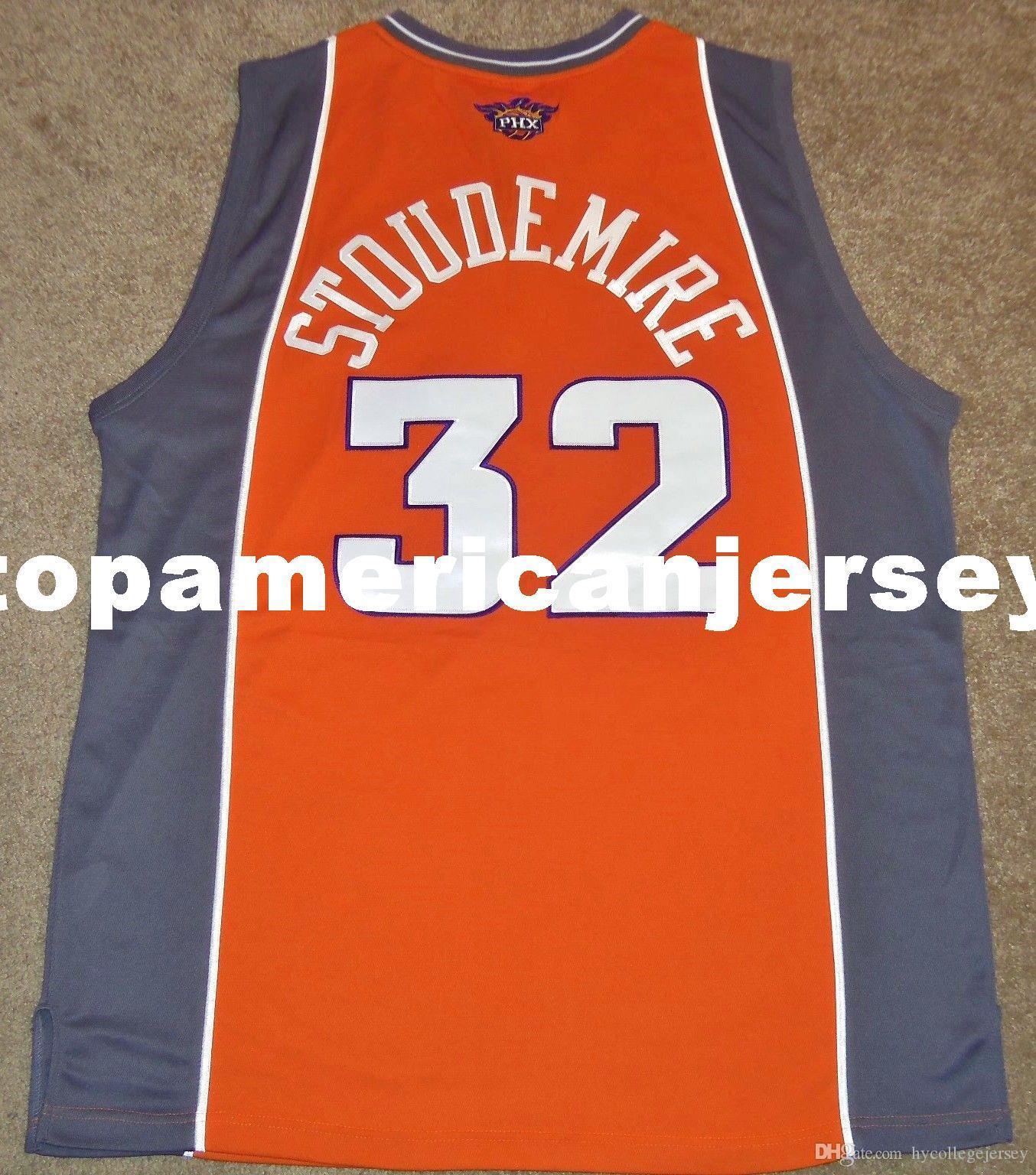 New Top Amar'e Stoudemire # 32 de alta qualidade Rbk ALT 3RD JERSEY SEWN! basquete Vest Mens Tamanho XS-6XL costurado Jerseys Ncaa