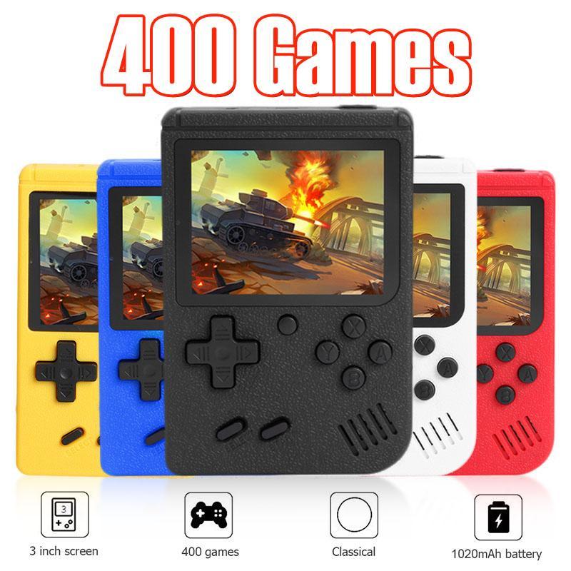 لعبة يده اللاعبين 400 في 1 ألعاب صغيرة محمولة ريترو لعبة فيديو وحدة التحكم دعم TV-خارج AVCable 8 بت FC ألعاب المدمج في 3.0 بوصة وشاشة