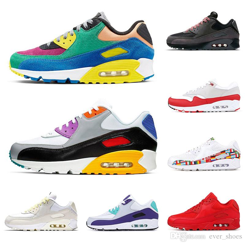 2019 New  Nike Air Max Viotech Be True Infrared fashion men sneakers Classic 90 Mistape South Beach ESSENTIAL Red Women 90s Designer Running Shoes 36-45