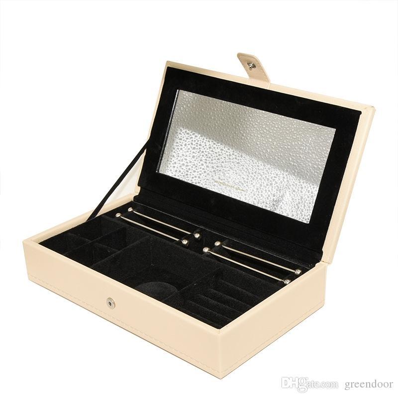 جديد جودة عالية تخزين مربع بو الجلود مجوهرات باندورا سحر كبير حلقة الدائري سوار قلادة صندوق تخزين الأصلي