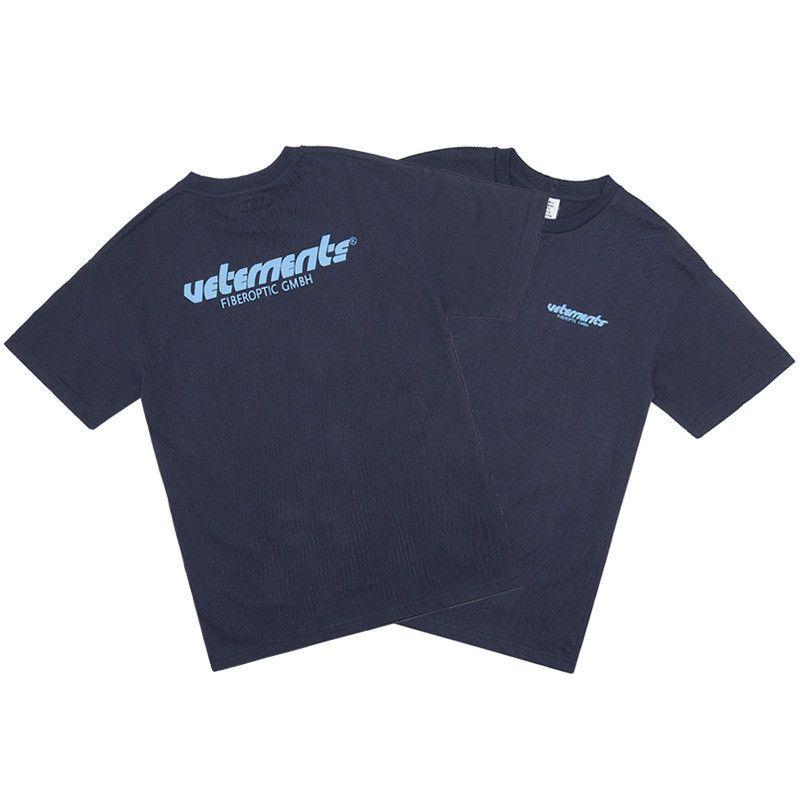 Erkek Tasarımcı tişört Sis Çift Parça Temel Gömlek Hip-hop Baskılı Mektupları Vetements Kısa Kollu High Street Tide Avrupa ve Amerika Puan