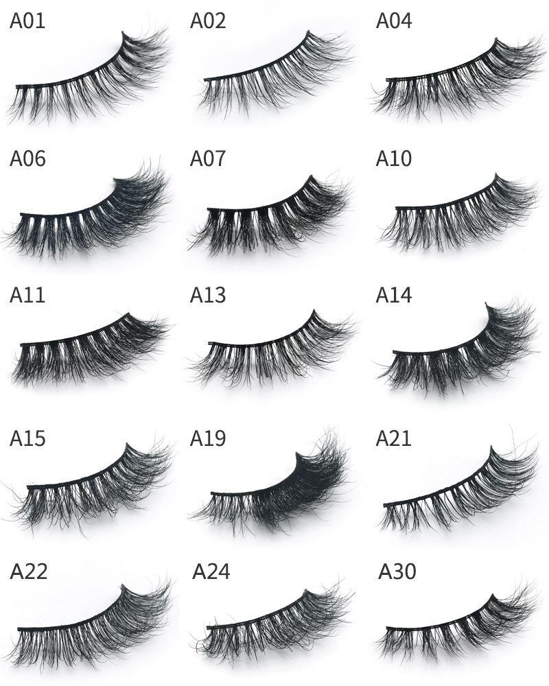 ماكياج العين المنك 3d الشعر 30 أنماط وهمية رمش 100٪ سميكة المنك الحقيقي الشعر الرموش الطبيعية تمديد الرموش وهمية