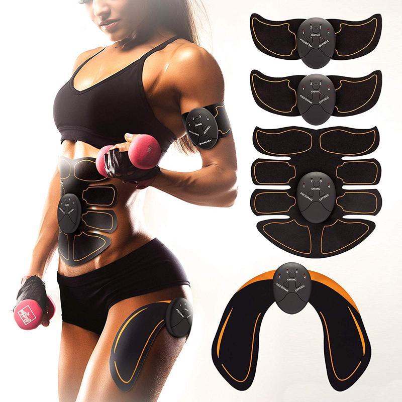 Ccsme ABS estimulador de masaje muscular abdominal muscular Electro ABDOS entrenador Aparato cinturón de tonificación entrenamiento de cuerpo de la aptitud de la pierna del brazo