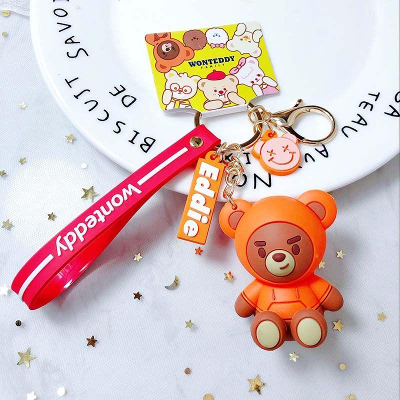 2019 Kids Toys Stuffed Animals Fluffy Bear Teddy Bear Cute Plush Toys Bag Keychain Car Key Holder for Pendant Doll