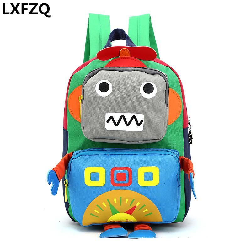 sac à dos robot Cartoon Cartable PRIMAIRE enfants Cartable élèves de l'école Voyage sac à dos léger