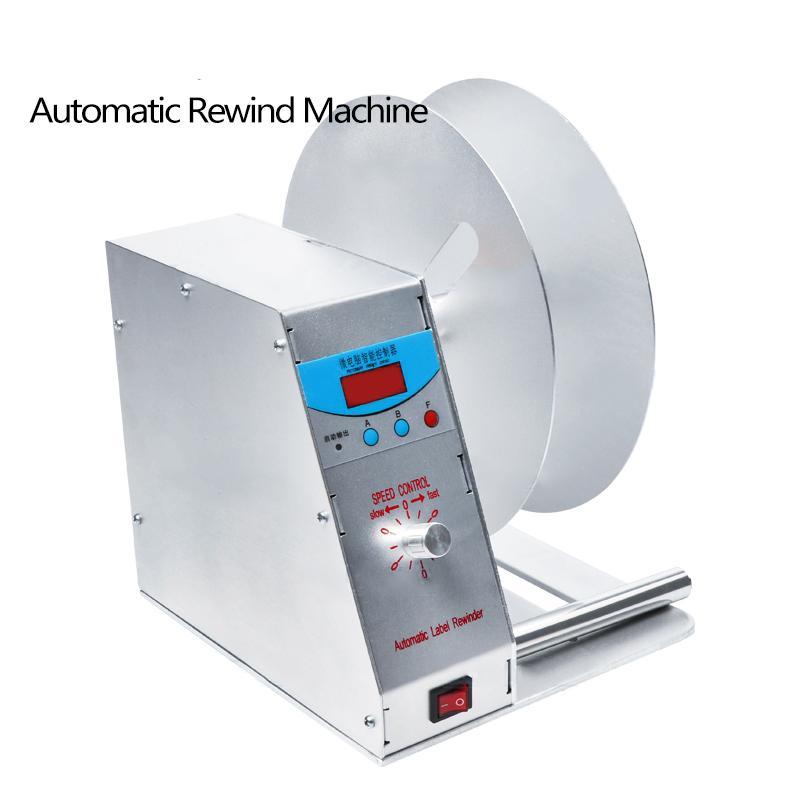Frete Grátis por DHL! Rótulo automático Rebobinador Para roupa Wash código de barras da etiqueta Etiqueta de Preço Auto-adesivo autocolante velocidade ajustável
