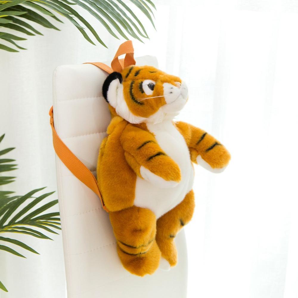 Kinder felpa Animales mochilas de los niños muchachas de los muchachos materia Mochila leopardo del tigre de la panda del oso polar bolsa monedero Libros