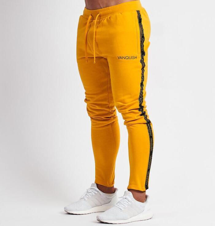 남성 조깅스 캐주얼 바지 남성 운동복 운동복 바지 스키니 팬츠 바지 검정 체육관 조깅 트랙 바지