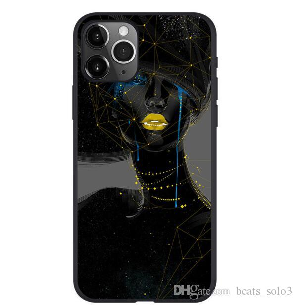 For Iphone 11 Pro Phone Case Xs Xr Fashion Cool Girl 6 7 8 X Plus Frosted TPU Soft Cell Phone Cases