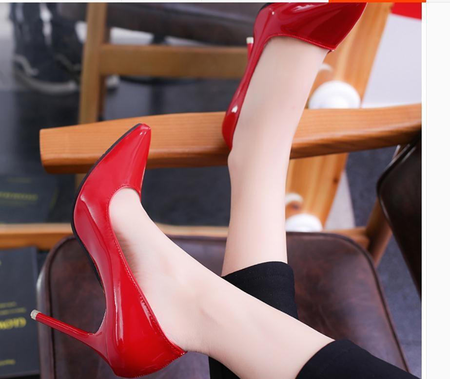 2020 весна и осень с новым стилем моды высокий каблук тонкий каблук заостренный конец Женская обувь@750@MQWBH749