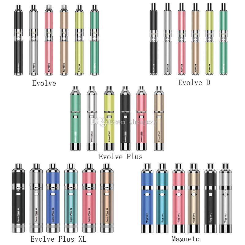2020 Version Yocan Original-Evolve-D Evolve Kit Evolve Plus-Evolve Plus-XL Magneto Datum 6 Farben Wachs Dry Herb Pen Vaporizer
