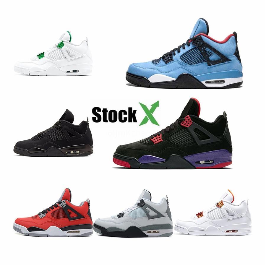 2020 nuovi pattini 4 Iv Black Cat Low Uomini basket maschile 4S Sneakers Sport all'aria aperta formatori con sicurezza superiore Dimensioni 7-13 # 212