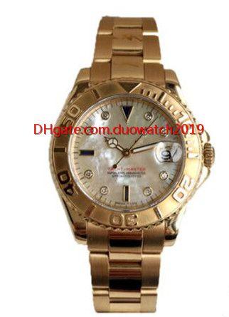 Mejor Proveedor de Fábrica de Lujo de alta calidad 40mm 168628 Mecánico Automático reloj de las mujeres Plegable mecánica 18k oro muñeca de Moda