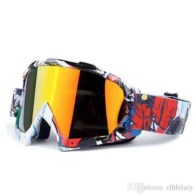 Marka Yeni Gafas Motosiklet Kayak Gözlükleri MX Off Road Gözlük Motosiklet Açık Spor ulculos Bisiklet Gözlük Motokros Gözlük